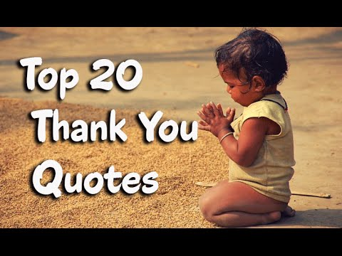 Top 20 Appreciation, Gratitude And Thank You Quotes  Youtube