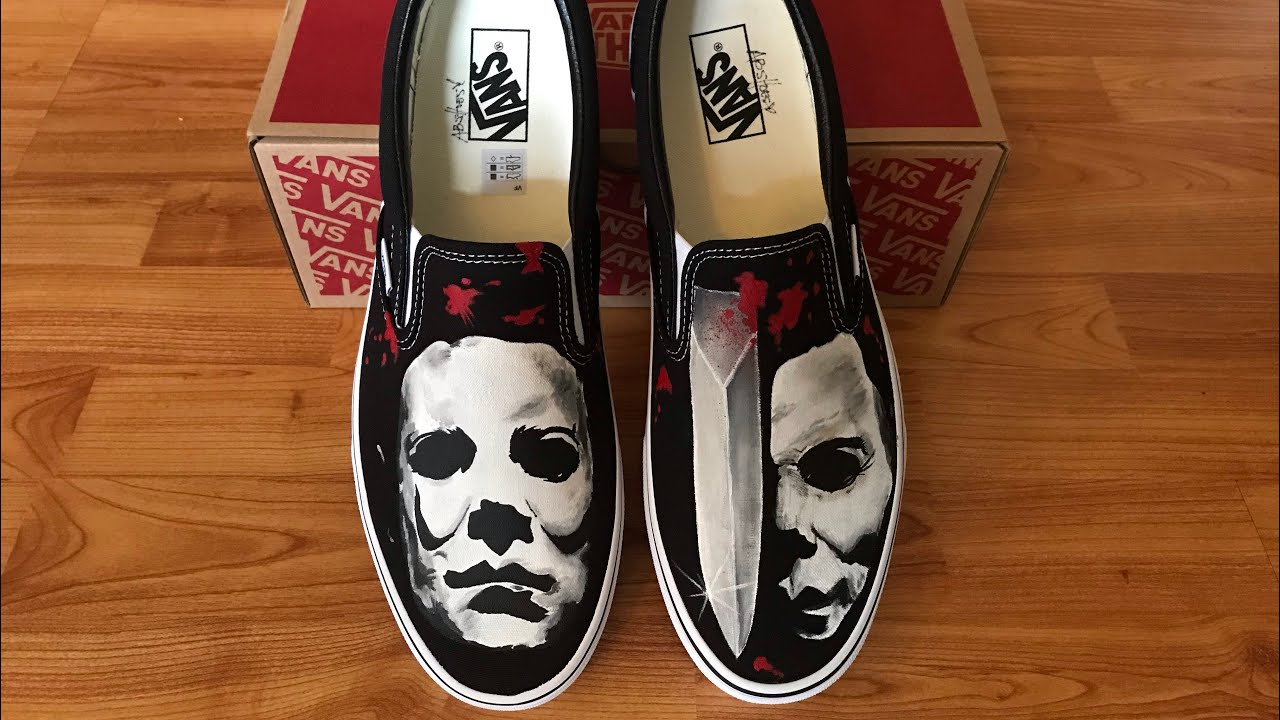Michael Meyers Hand painted shoes