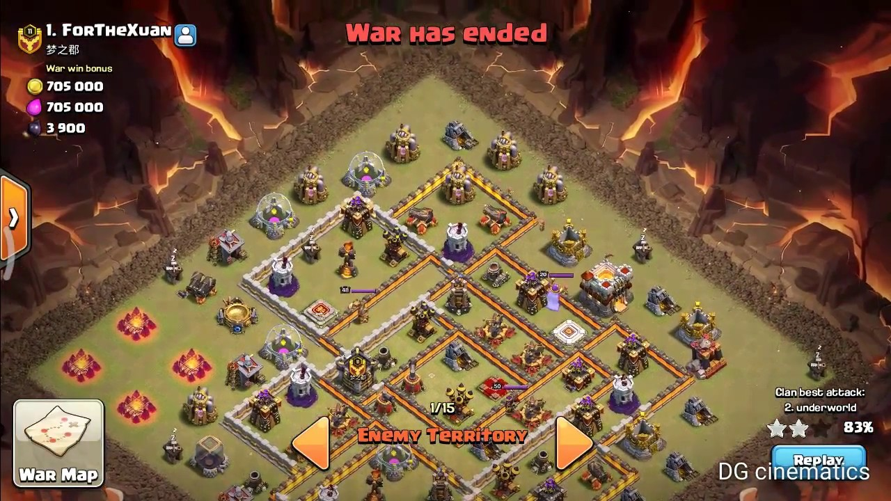 Best Th11 War Base Without Eagle Artillery 2018 5