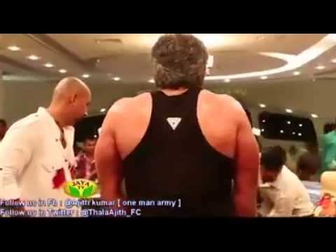 ajith workout in vedhalam shooting spot