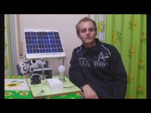 Maqueta De Energia Solar Fotovoltaica Para El Cole Youtube