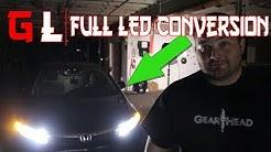 Full LED conversion LED Headlights Tail Lights Interior lights Honda Civic Partsam