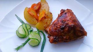 Рецепт Без Заморочек Сочная Курица с Картошкой в Духовке