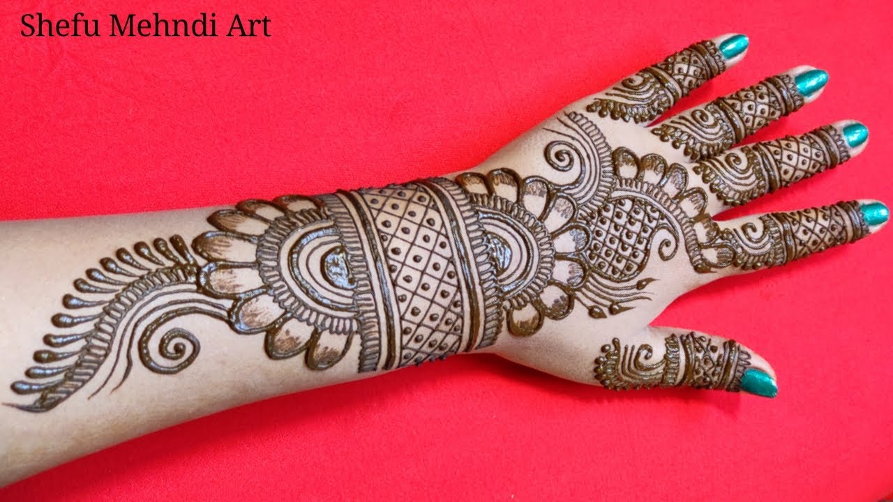 back hand mehndi design full