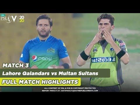 Multan Beat Lahore | Lahore Qalandars Vs Multan Sultans | Full Match | Match 3 | HBL PSL 5 | 2020