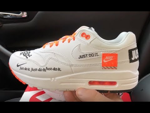 5d8baa6e7a7 Nike Womens Air Max 1 Lux Just Do It JDI sneakers