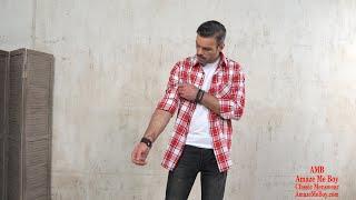 Мужские рубашки купить в Москве 2020 Длинная рубашка мужская в клетку с длинным рукавом Amaze Me Boy