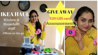IKEA Kitchen items Haul | What I bought from IKEA | GIVEAWAY (CLOSED)| NRI mom shopping haul