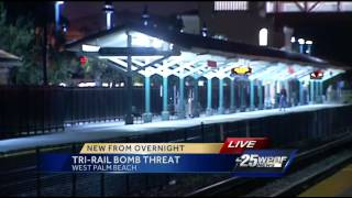 Bomb threat with a movie quote forces evacuation of Tri Rail train