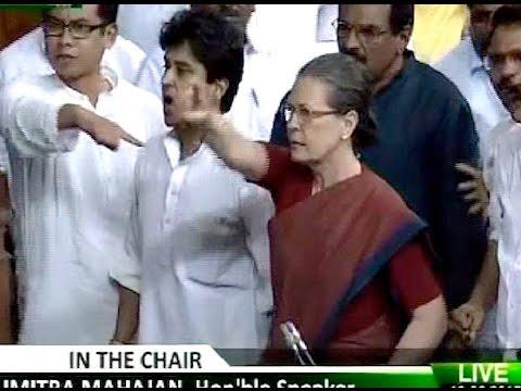 Sonia Gandhi fumes as BJP MP mentions Rahul Gandhi's mausi in Lok Sabha