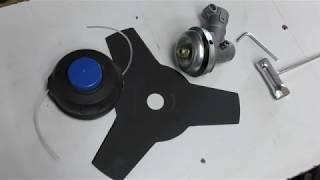 Установка катушки с леской и ножа на редуктор мотокосы Shtenli Profi