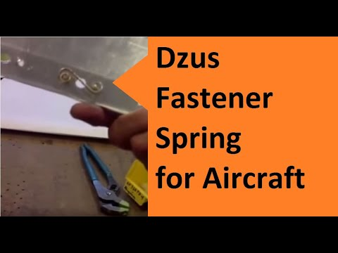Pratice installing dzus (zeus) fittings for the nacelle door on a B