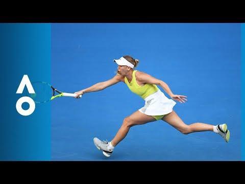 Mihaela Buzarnescu v Caroline Wozniacki match highlights (1R) | Australian Open 2018