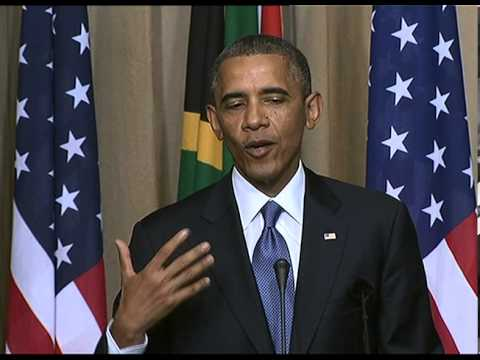 Obama and Zuma joint Press Conference at the Union Buildings
