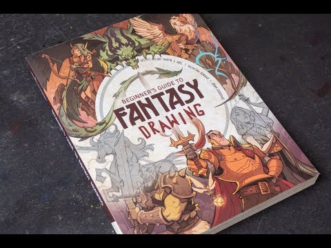 (book flip) Beginner's Guide to Fantasy Drawing