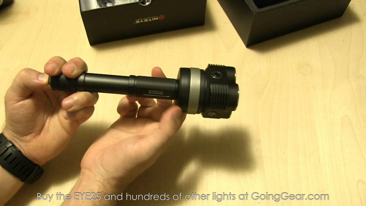 Niteye EYE25 2000 Lumen LED Flashlight Review