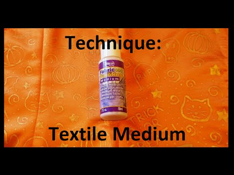 Textile Medium Tutorial How To Paint On Fabric