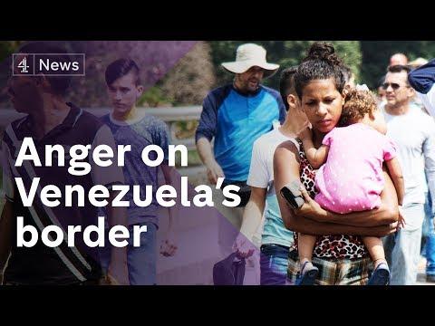 Anger on Venezuela border as military accused of blocking aid