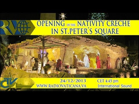 Official opening of the nativity Crèche in St. Peter's Square