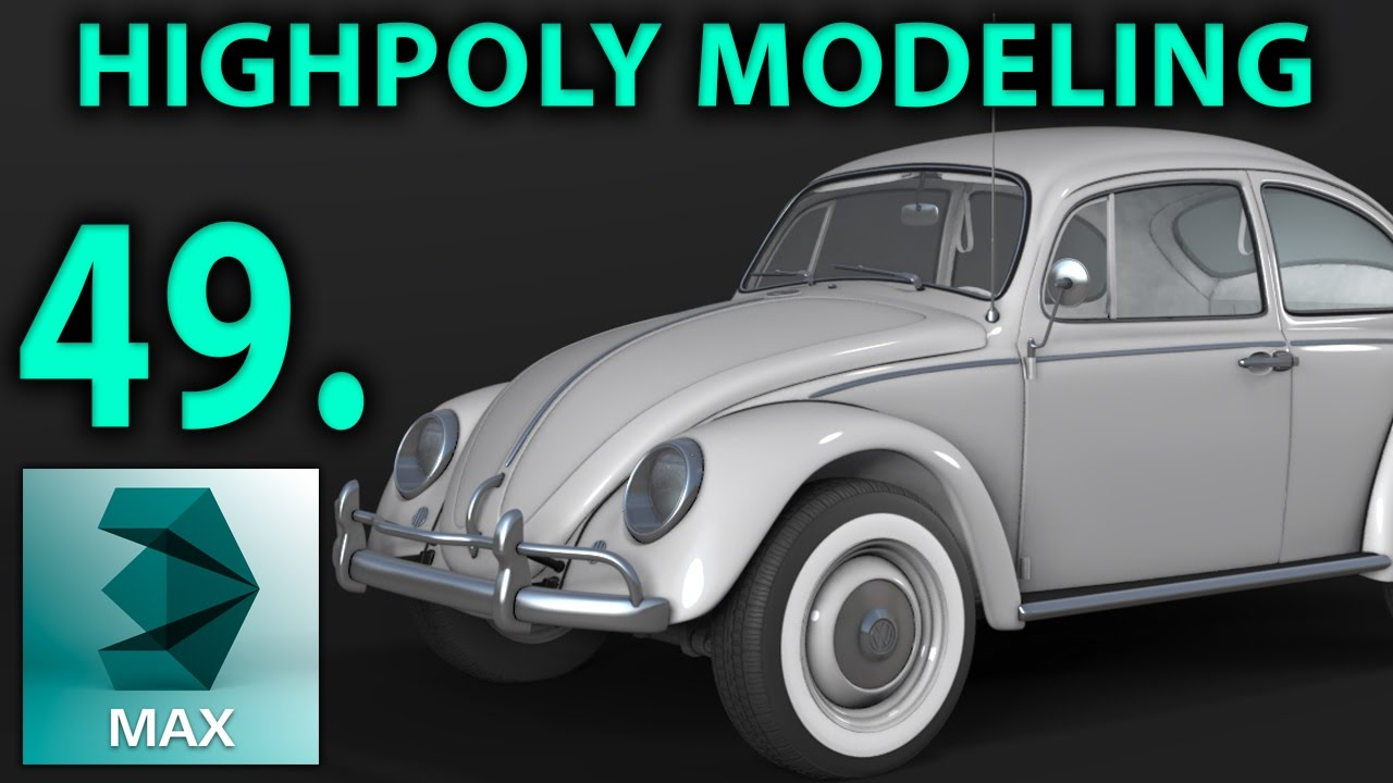 High Poly Car Modeling   Part 49 _ add material   3D Tutorial   vw ...