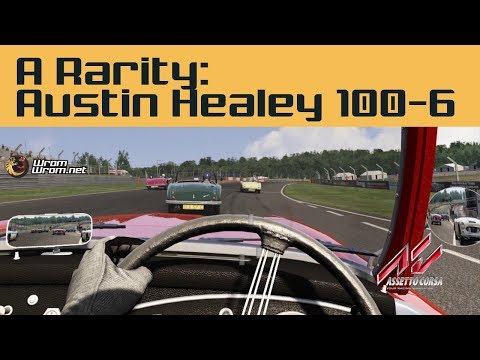 Driving the 1956 Austin Healey 100-6 Assetto Corsa Mod (Review and Free Download)