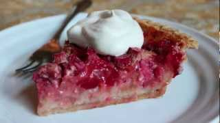 Strawberry Rhubarb Custard Pie - The Best Strawberry Rhubarb Pie Recipe