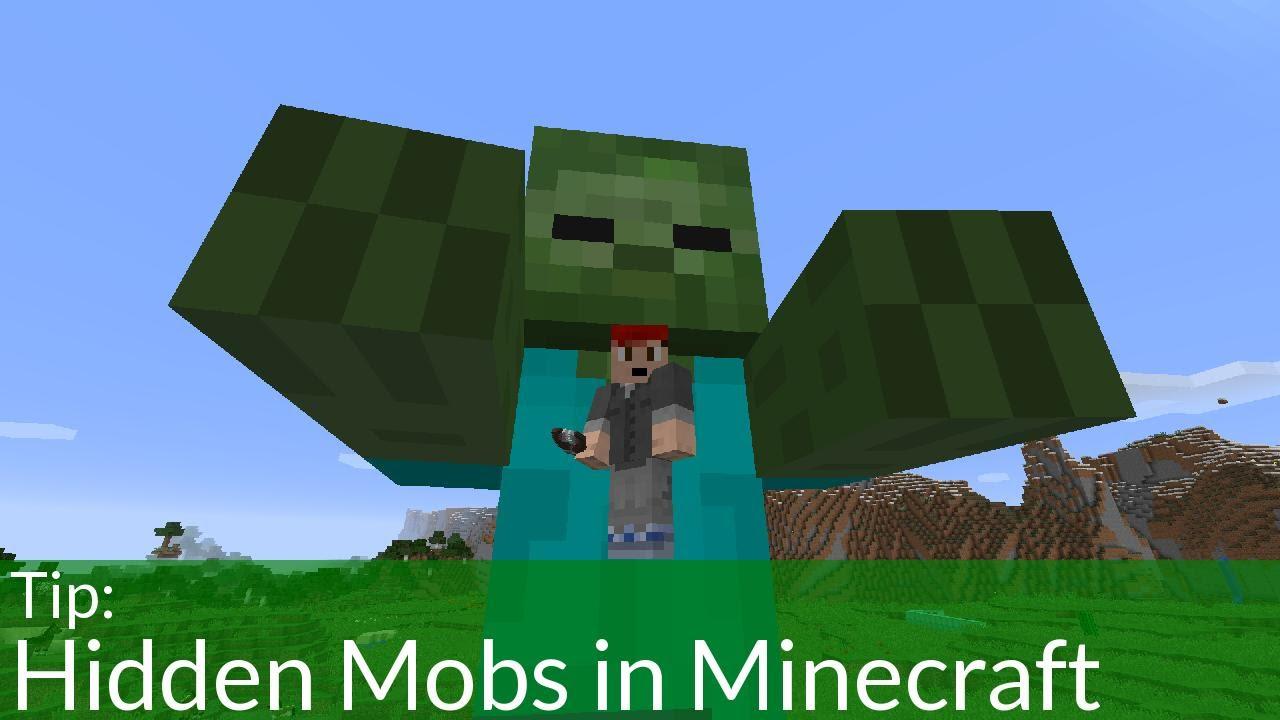 Hidden Mobs In Minecraft!!
