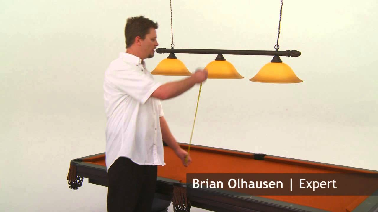Lets ask brian height recommedation of light over a pool table height recommedation of light over a pool table youtube aloadofball