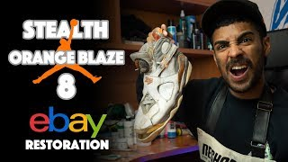 Air Jordan Stealth Orange Blaze 8 Restoration by Vick Almighty !!