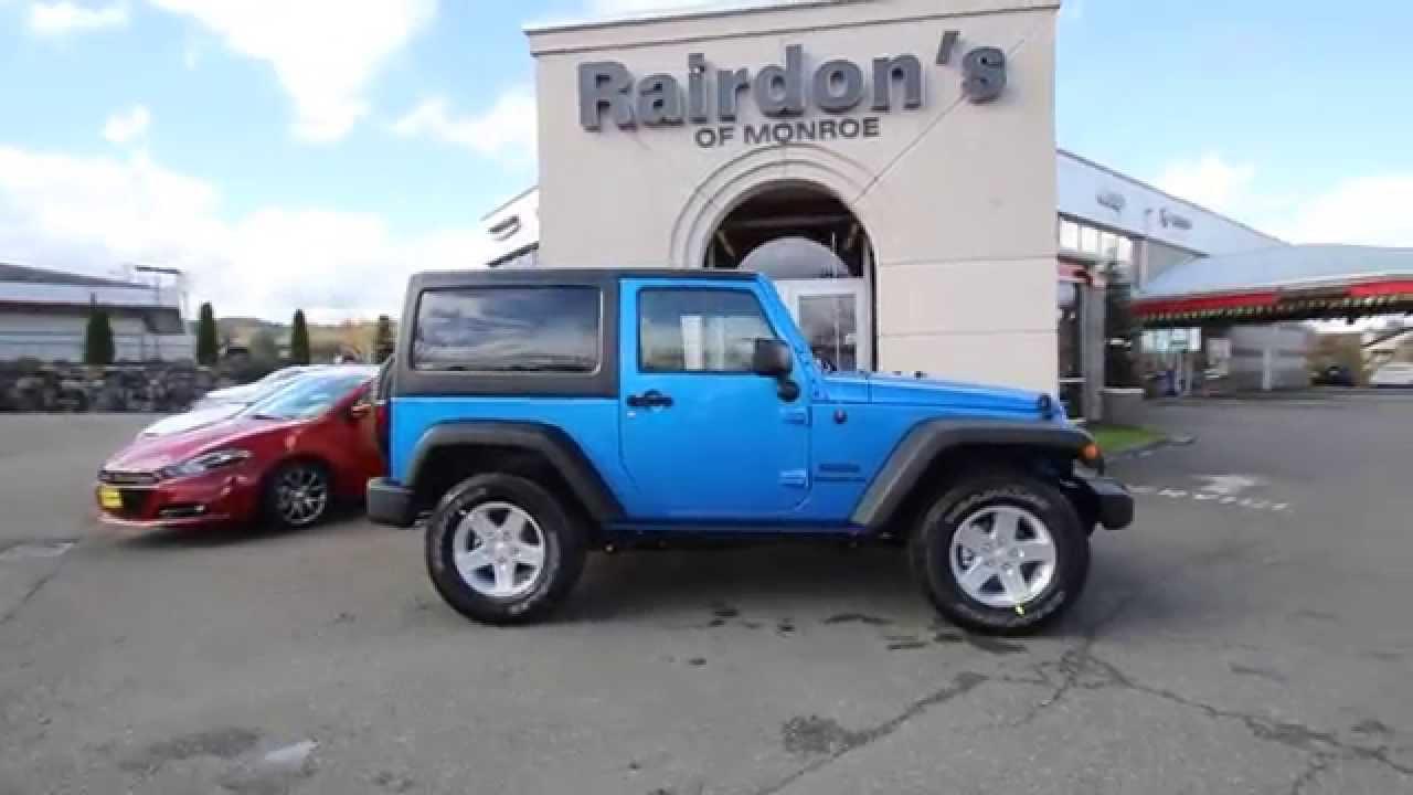 2015 Jeep Wrangler Sport Blue Fl545527 Everett