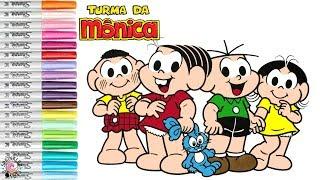 Turma da Monica Coloring Book Page Monica
