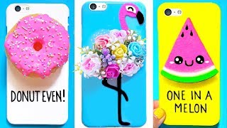 7 DIY PHONE CASES (Summer-inspired) | Easy & Cute Phone Projects
