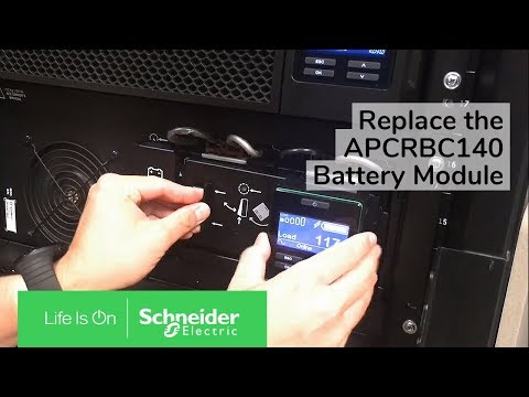 Replacing the APCRBC140 Battery Module in SURT or SRT Series Smart-UPS |  Schneider Electric Support