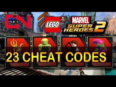 LEGO Marvel Super Heroes 2 - All 23 Cheat Codes & Showcase