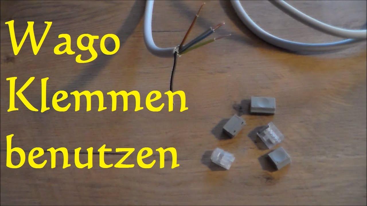 Turbo Wago Klemmen benutzen lösen und anschließen darauf müsst ihr ON98