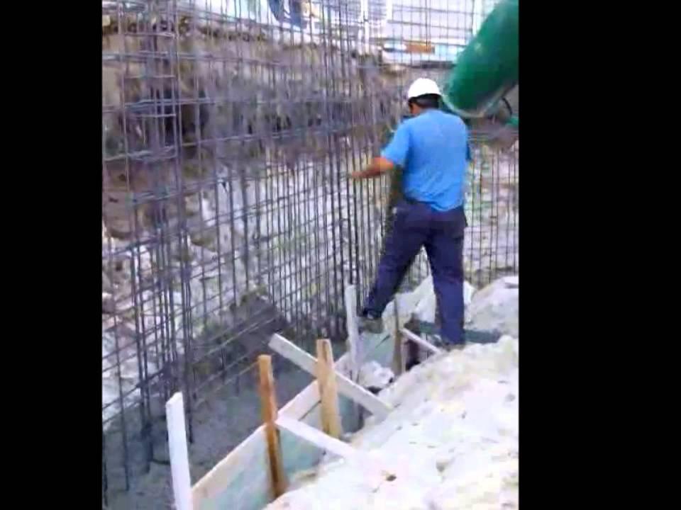 2012 13 ejecuci n muro hormig n youtube - Muros de hormigon ...