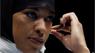 N.J.'s Ibtihaj Muhammad makes Olympic history by competing  while wearing a hijab