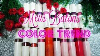 meus batons color trend avon 19 batons
