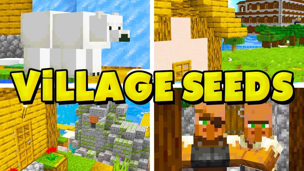 9 NEW Village Seeds For Minecraft 9.96.9! (Best Minecraft 9.96 Village  Seeds)