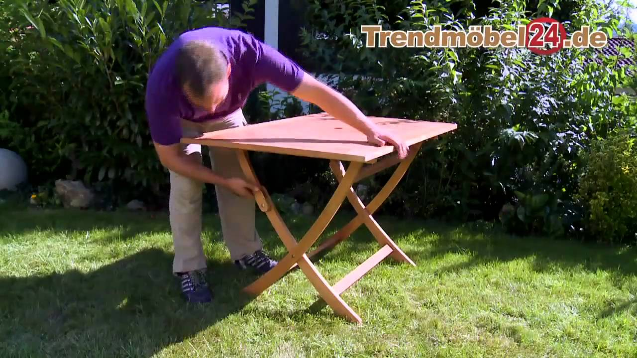 gartenklapptisch gartentisch catar 120 x 80 jetzt aus fsc eukalyptus youtube. Black Bedroom Furniture Sets. Home Design Ideas
