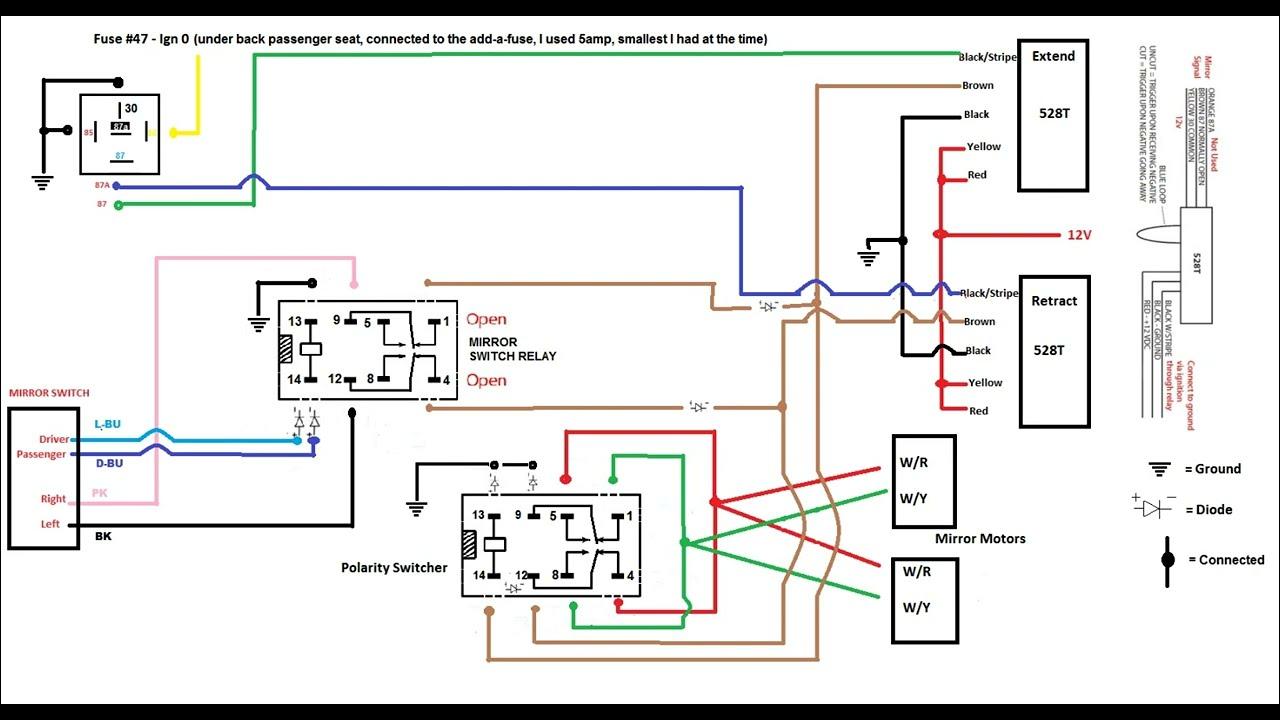 Trailblazer Power Folding Mirror/ LED turn signal - YouTube