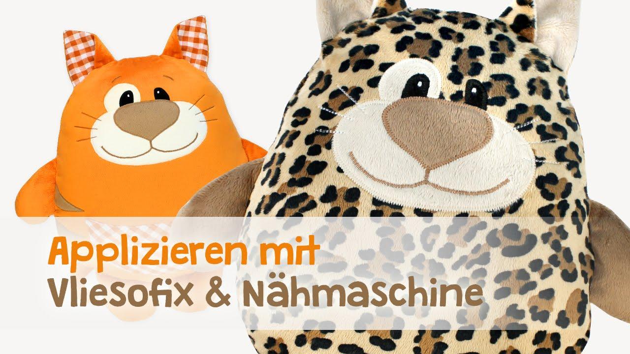 Nähen lernen: Applizieren mit Nähmaschine & Vliesofix® | kullaloo ...