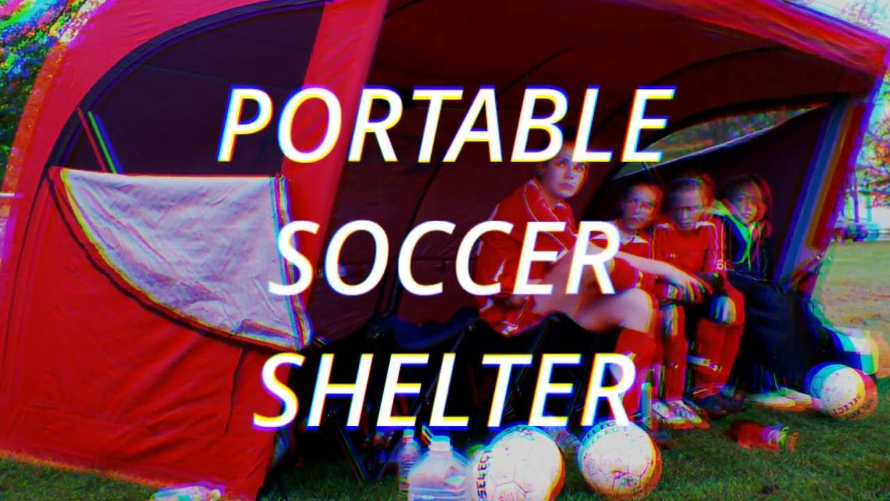 663abf26e PORTABLE SOCCER TEAM SHELTER SPORTS TENT BEACH EVENT TENT - YouTube