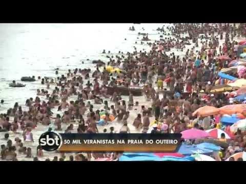 Sbt Pará (03/08/2015) Praias lotadas em Outeiro