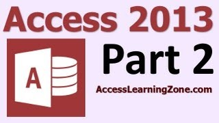 Microsoft Access 2013 Tutorial Level 1 Part 02 of 12 - Planning Your Database thumbnail