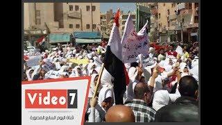 مسيرة لآلاف الطالبات بكفر الشيخ للحث على المشاركة بالانتخابات