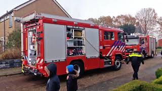 Aankomst brandweer Tweede Exloërmond woningbrand Musselkanaal
