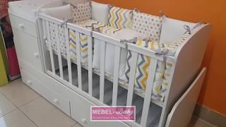 Обзор кроватки-трансформера для новорожденных Metida Белый 60х120 ORIS100