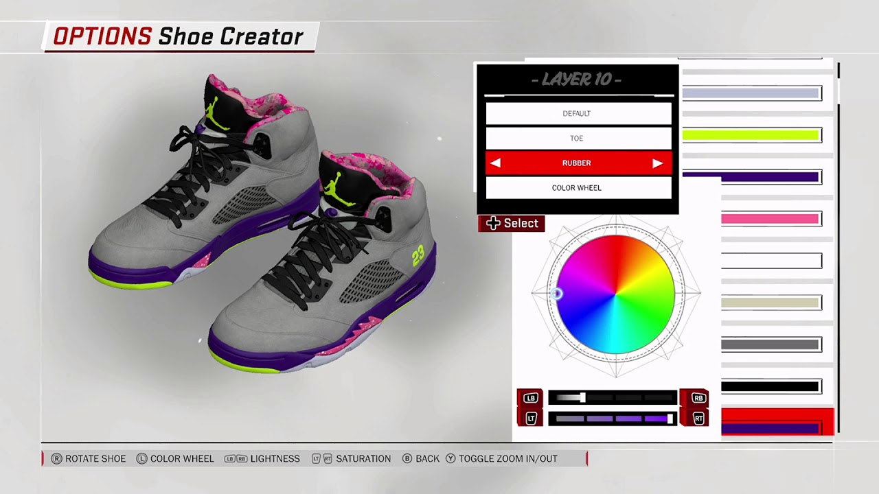 04e677b0a09 NBA 2K18 Shoe Creator - Air Jordan 5
