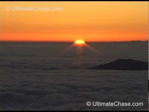 Amazing Sunset from the Summit of Mauna Kea Volcano in Hawaii